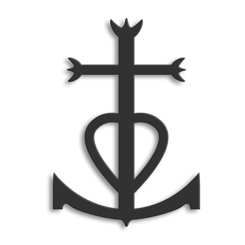 D cor m tal d cors muraux en m tal symboles regionaux camargue - Symbole de la perseverance ...