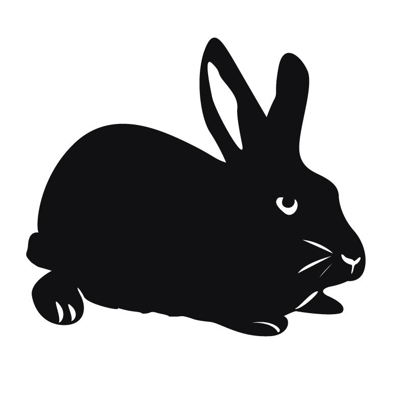 d cor m tal d cors muraux en m tal animaux lapin. Black Bedroom Furniture Sets. Home Design Ideas